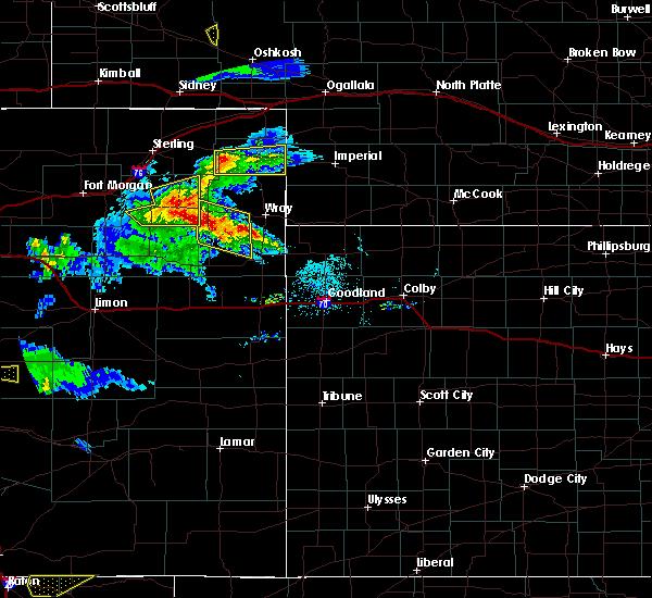 Radar Image for Severe Thunderstorms near Otis, CO at 8/5/2020 6:31 PM MDT