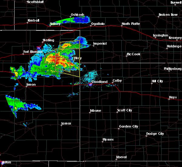 Radar Image for Severe Thunderstorms near Otis, CO at 8/5/2020 6:44 PM MDT