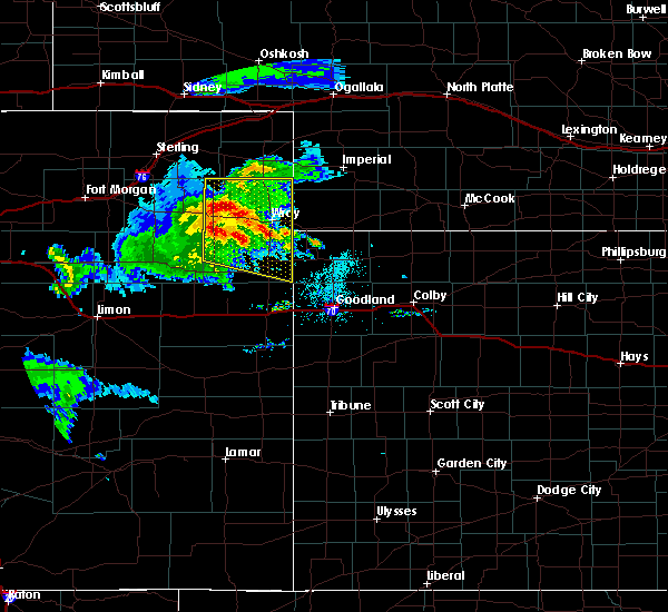 Radar Image for Severe Thunderstorms near Laird, CO at 8/5/2020 6:54 PM MDT