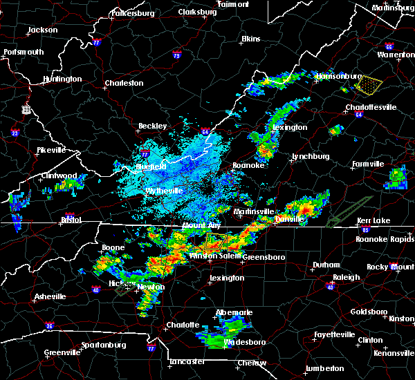 Radar Image for Severe Thunderstorms near Wentworth, NC at 8/5/2020 9:17 PM EDT