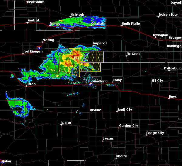 Radar Image for Severe Thunderstorms near Laird, CO at 8/5/2020 7:20 PM MDT