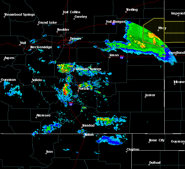 Radar Image for Severe Thunderstorms near Pueblo, CO at 8/5/2020 7:23 PM MDT