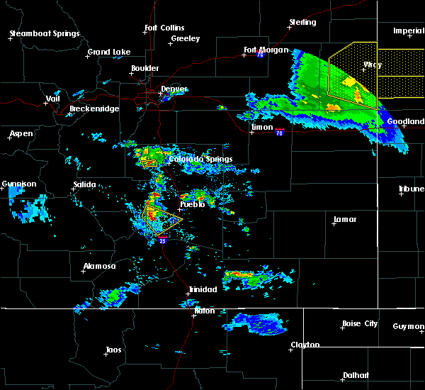 Radar Image for Severe Thunderstorms near Pueblo, CO at 8/5/2020 7:30 PM MDT