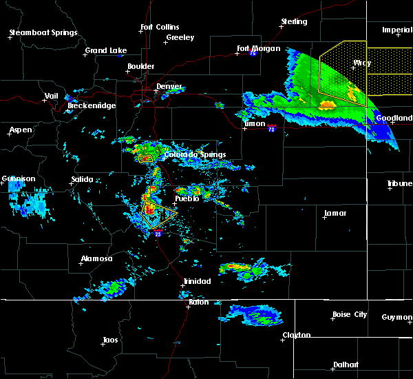 Radar Image for Severe Thunderstorms near Pueblo, CO at 8/5/2020 7:37 PM MDT