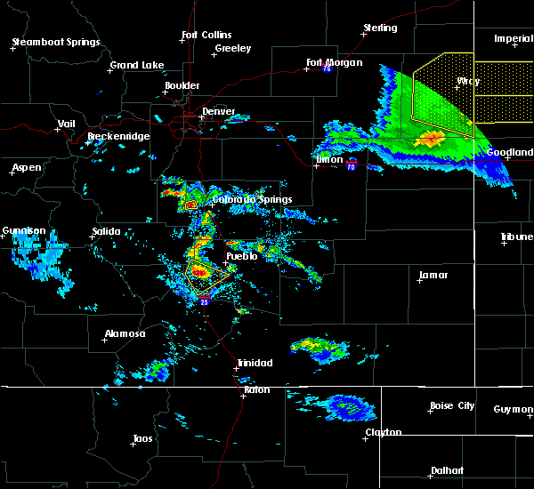 Radar Image for Severe Thunderstorms near Pueblo, CO at 8/5/2020 7:46 PM MDT