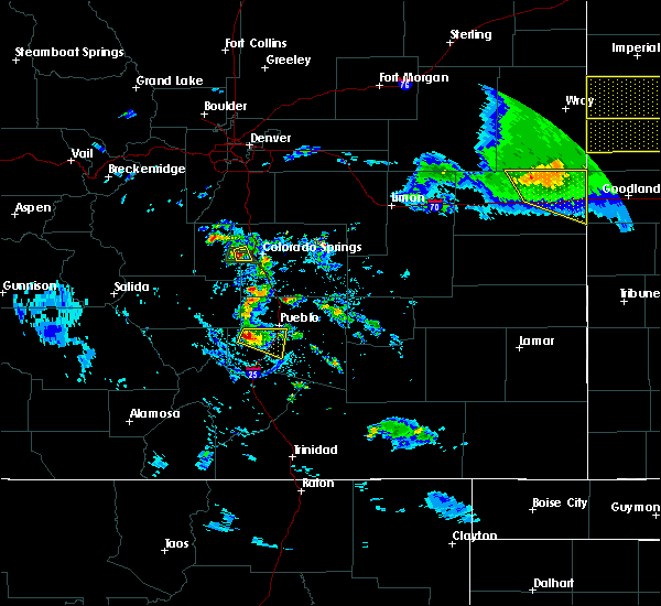 Radar Image for Severe Thunderstorms near Pueblo, CO at 8/5/2020 7:54 PM MDT