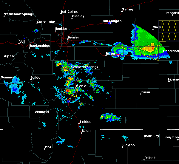 Radar Image for Severe Thunderstorms near Colorado Springs, CO at 8/5/2020 8:03 PM MDT