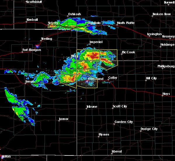 Radar Image for Severe Thunderstorms near Goodland, KS at 8/5/2020 8:19 PM MDT