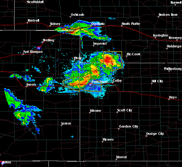 Radar Image for Severe Thunderstorms near Goodland, KS at 8/5/2020 8:40 PM MDT