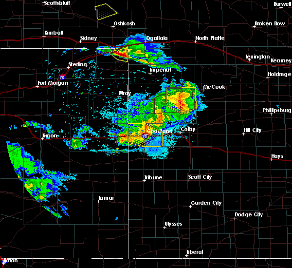 Radar Image for Severe Thunderstorms near Oberlin, KS at 8/5/2020 9:58 PM CDT
