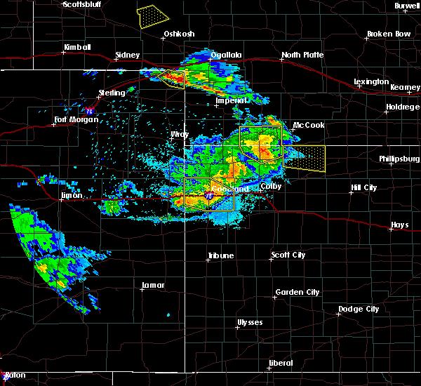 Radar Image for Severe Thunderstorms near Goodland, KS at 8/5/2020 9:00 PM MDT