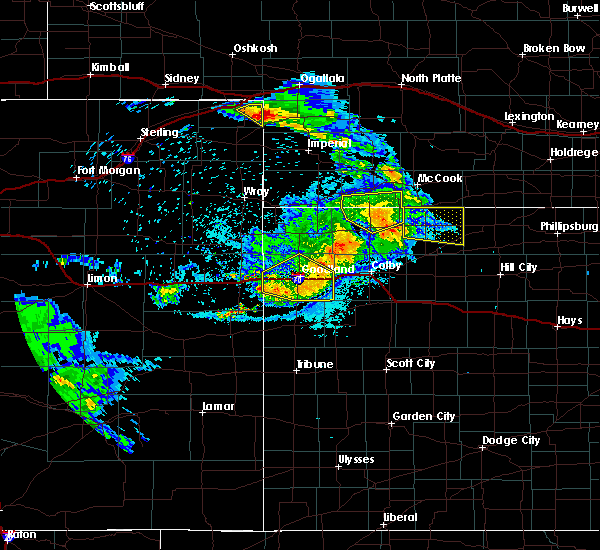 Radar Image for Severe Thunderstorms near Clayton, KS at 8/5/2020 10:11 PM CDT