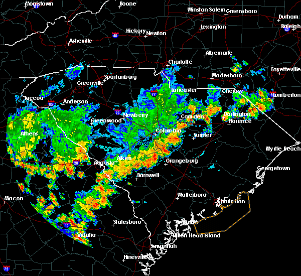 Radar Image for Severe Thunderstorms near Alcolu, SC at 7/2/2015 5:31 PM EDT