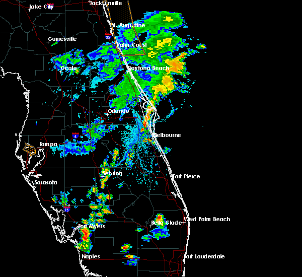 Radar Image for Severe Thunderstorms near Melbourne, FL at 7/2/2015 5:34 PM EDT