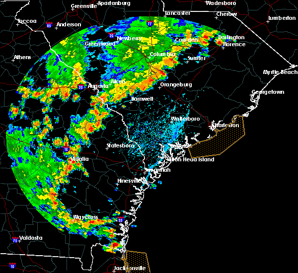 Radar Image for Severe Thunderstorms near Allendale, SC at 7/2/2015 5:34 PM EDT