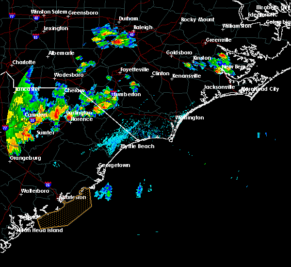 Radar Image for Severe Thunderstorms near Quinby, SC at 7/2/2015 5:41 PM EDT