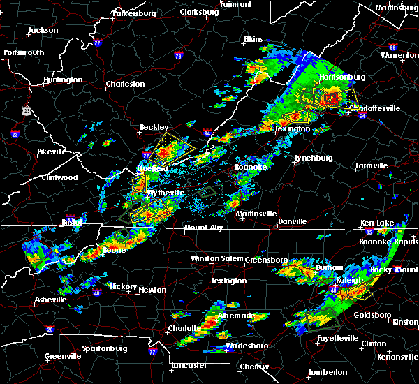 Radar Image for Severe Thunderstorms near Woodlawn, VA at 8/6/2020 4:33 PM EDT