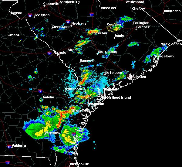 Radar Image for Severe Thunderstorms near Hardeeville, SC at 8/6/2020 5:19 PM EDT