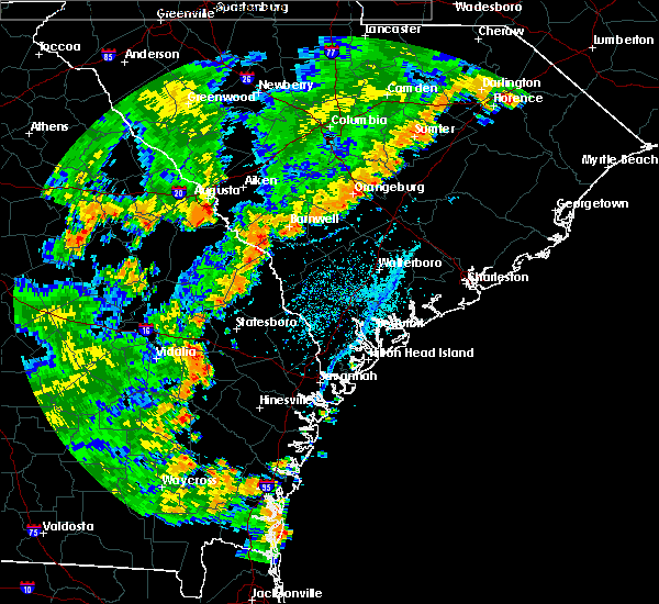 Radar Image for Severe Thunderstorms near Allendale, SC at 7/2/2015 6:00 PM EDT