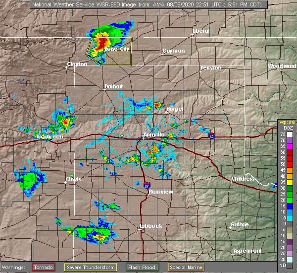 Radar Image for Severe Thunderstorms near Boise City, OK at 8/6/2020 5:56 PM CDT
