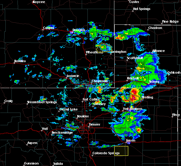 Radar Image for Severe Thunderstorms near Sterling, CO at 8/6/2020 4:58 PM MDT