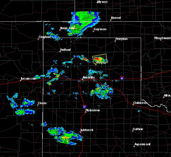 Radar Image for Severe Thunderstorms near Stinnett, TX at 8/6/2020 7:18 PM CDT