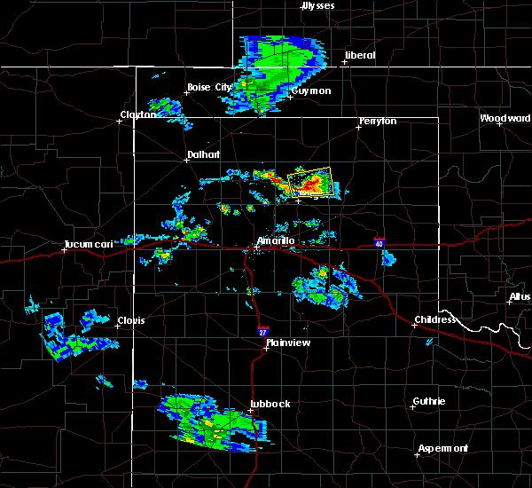 Radar Image for Severe Thunderstorms near Stinnett, TX at 8/6/2020 7:36 PM CDT