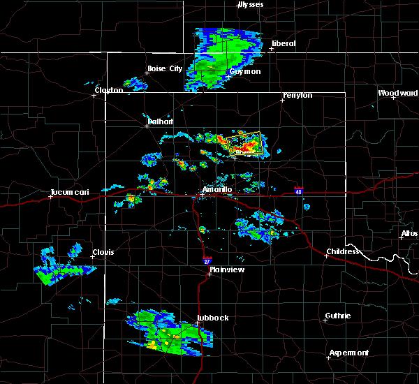 Radar Image for Severe Thunderstorms near Stinnett, TX at 8/6/2020 7:46 PM CDT
