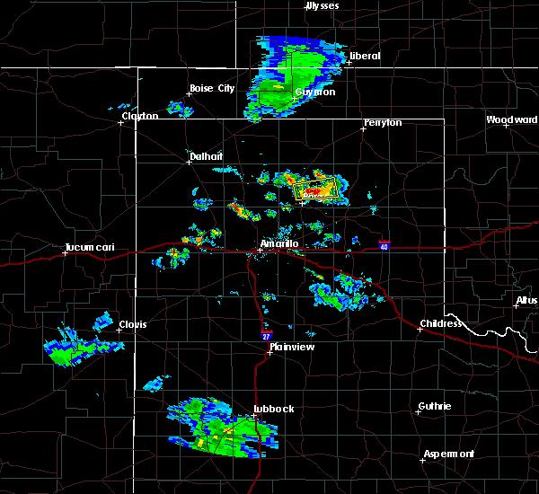 Radar Image for Severe Thunderstorms near Stinnett, TX at 8/6/2020 7:55 PM CDT