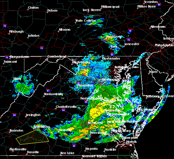 Radar Image for Severe Thunderstorms near Purcellville, VA at 8/6/2020 8:59 PM EDT