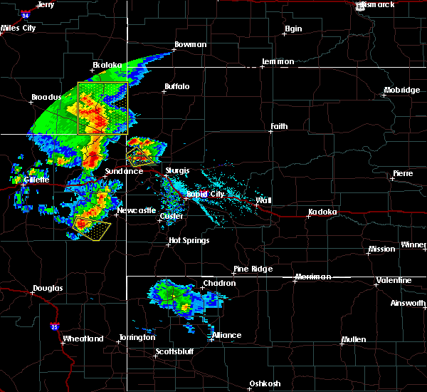 Radar Image for Severe Thunderstorms near Spearfish, SD at 8/6/2020 7:08 PM MDT