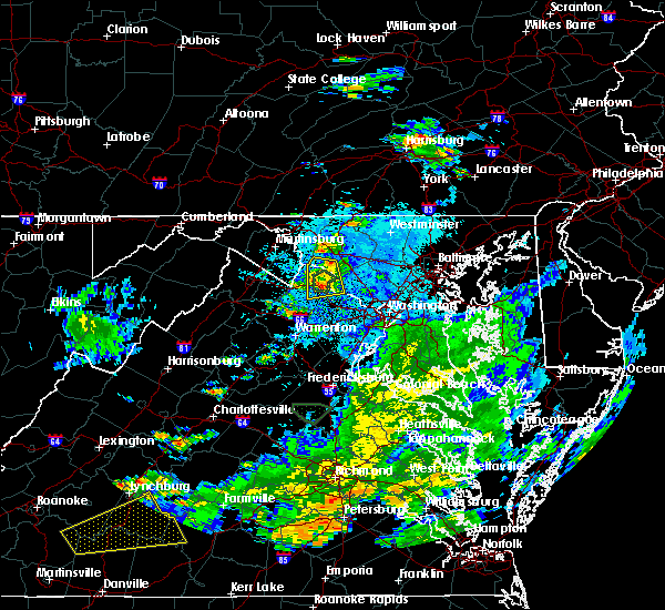 Radar Image for Severe Thunderstorms near Jefferson, MD at 8/6/2020 9:10 PM EDT