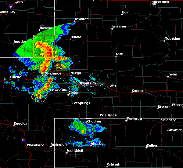 Radar Image for Severe Thunderstorms near Belle Fourche, SD at 8/6/2020 7:23 PM MDT