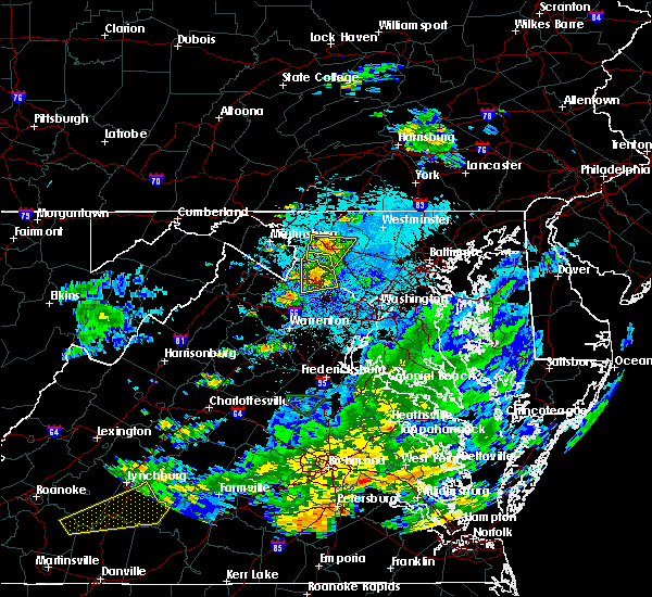 Radar Image for Severe Thunderstorms near Purcellville, VA at 8/6/2020 9:31 PM EDT