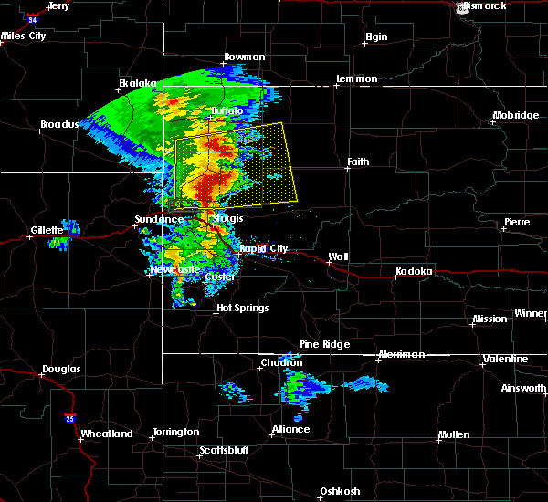 Radar Image for Severe Thunderstorms near Fruitdale, SD at 8/6/2020 8:30 PM MDT
