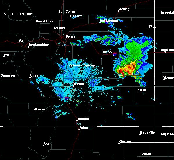 Radar Image for Severe Thunderstorms near Kit Carson, CO at 8/6/2020 8:55 PM MDT