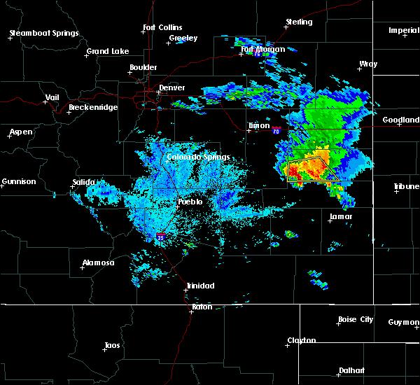 Radar Image for Severe Thunderstorms near Kit Carson, CO at 8/6/2020 9:00 PM MDT
