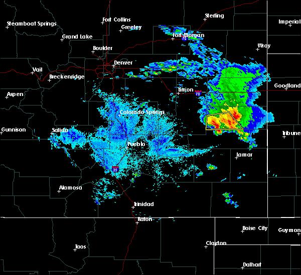 Radar Image for Severe Thunderstorms near Kit Carson, CO at 8/6/2020 9:08 PM MDT