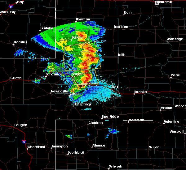 Radar Image for Severe Thunderstorms near Piedmont, SD at 8/6/2020 9:11 PM MDT
