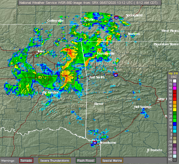 Radar Image for Severe Thunderstorms near Simms, OK at 8/7/2020 8:14 AM CDT