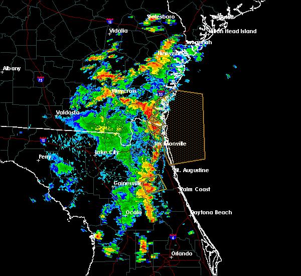 Radar Image for Severe Thunderstorms near Kingsland, GA at 8/7/2020 3:46 PM EDT