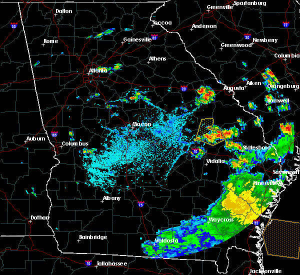 Radar Image for Severe Thunderstorms near Swainsboro, GA at 8/7/2020 5:54 PM EDT
