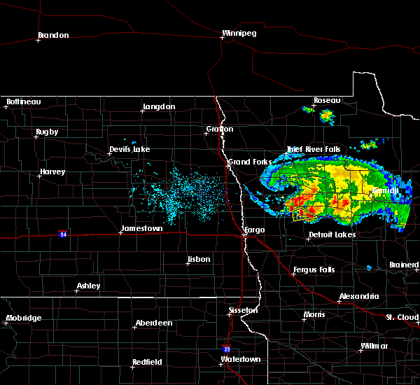 Radar Image for Severe Thunderstorms near White Earth, MN at 8/7/2020 5:00 PM CDT