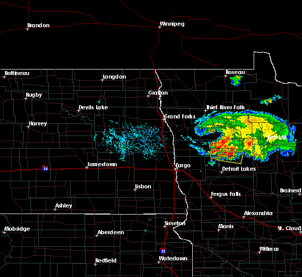 Radar Image for Severe Thunderstorms near White Earth, MN at 8/7/2020 5:14 PM CDT