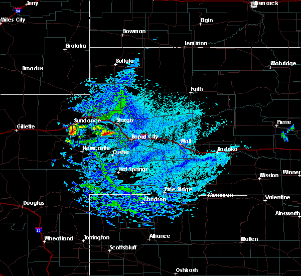 Radar Image for Severe Thunderstorms near Piedmont, SD at 8/7/2020 4:25 PM MDT