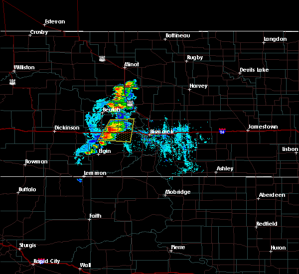Radar Image for Severe Thunderstorms near Center, ND at 8/7/2020 7:26 PM CDT