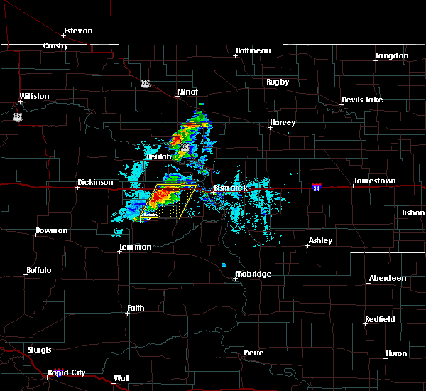 Radar Image for Severe Thunderstorms near Almont, ND at 8/7/2020 7:48 PM CDT