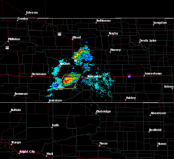 Radar Image for Severe Thunderstorms near Almont, ND at 8/7/2020 8:04 PM CDT