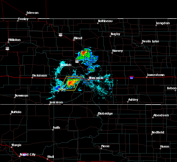 Radar Image for Severe Thunderstorms near Almont, ND at 8/7/2020 8:17 PM CDT