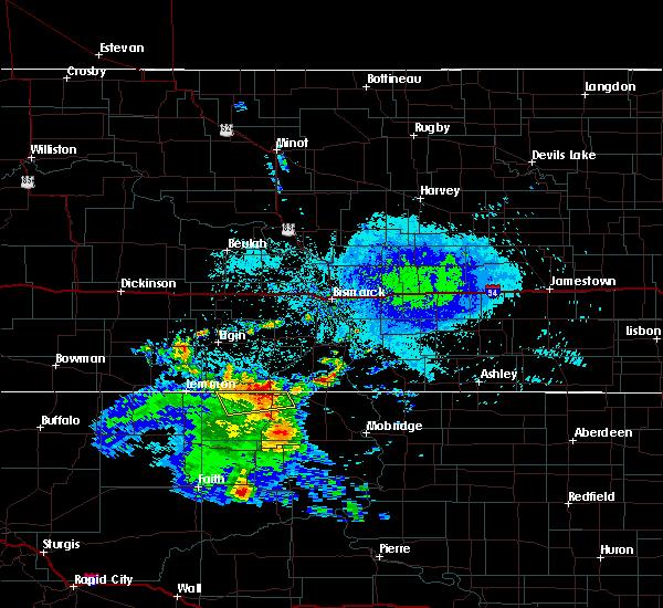 Radar Image for Severe Thunderstorms near McIntosh, SD at 8/8/2020 5:25 AM MDT